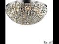 Plafoniera Calypso cu abajur sferic si decoratiuni de cristal 8x40W