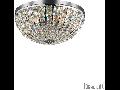 Plafoniera Calypso cu abajur sferic si decoratiuni de cristal 6x40W