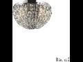 Plafoniera Calypso cu abajur sferic si decoratiuni de cristal 4x40W