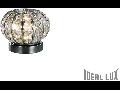 Veioza Calypso cu abajur sferic si decoratiuni de cristal 1x40W