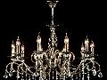 Candelabru Elegant Grace,10 becuri dulie E14, 230V,D.85cm, H.64 cm,Bronz