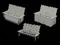 Doza pardoseala 6 module Kopobox mini B pentru beton