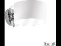 Aplica Anello, 1 bec, dulie G9, L:150mm, H:195mm, Alb