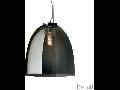 Pendul Eva mare, 1 bec, dulie E27, D:400mm, H:500/1400mm, Fumuriu