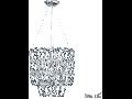 Lustra Alba, 6 becuri, dulie E14, + 1 bec, dulie E27, D:450 mm, H:460/1060 mm, Transparenta