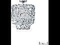 Plafoniera Alba, 6 becuri, dulie E14 + 1 bec, dulie E27, D:450 mm, H:600 mm, Transparent