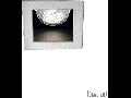 Spot incastrat Funky, D:90 mm, 50W, dulie GU10, Patrat, Aluminiu