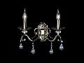 Aplica Diamant Elegant Grace,2 x E14, 230V, D.39cm,H.39 cm,Bronz