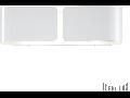 Aplica Clip Mica, 2 becuri, dulie E27, L:440 mm, H:127 mm, Alb