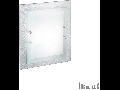 Plafoniera Alaska, 2 becuri, dulie E27, L:300 mm, H:380 mm, Argintie