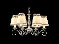 Candelabru Elegant Bouquet,6 becuri dulie E14, 230V,D.60cm, H.38 cm,Gri antic