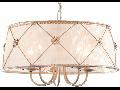 Candelabru Elegant Lea,5 becuri dulie E14, 230V,D.55cm, H.30 cm,Alb auriu