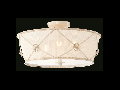Plafoniera Elegant Lea,3 becuri dulie E27, 230V,D.45cm, H.23 cm,Alb auriu