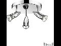 Plafoniera Alfa 3 becuri, dulie GU10, D:210 mm, H:160 mm, Crom