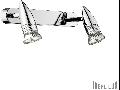 Aplica Alfa 2 becuri, dulie GU10, L:290 mm, H:110mm, Alb