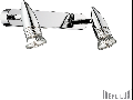 Aplica Alfa 2 becuri, dulie GU10, L:290 mm, H:110mm, Alama antica