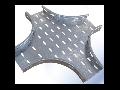 Piesa imbinare CRUCE pentru jgheab metalic H 110mm,latime 400mm