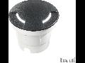 Spot in pardoseala Cecilia rotund mare, 1 LED, dulie GX53, D:120 mm, H:160 mm, Negru