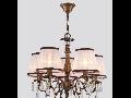Lampa Cannella,5 becuri dulie E14, 230V,D.50cm, H.54 cm,Bronz