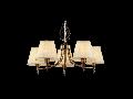 Candelabru Vesta,5 becuri dulie E14, 230V,D.62cm, H.43 cm,Bronz