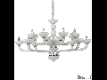 candelabru Casanova, 16 becuri, dulie E14, D:1200 mm, H:650/1550 mm, Alb