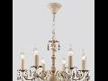 Candelabru Pastello ,6 becuri dulie E14, 230V,D.54cm, H.50 cm,Crem