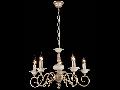 Candelabru Perla ,5 becuri dulie E14, 230V,D.56cm, H.36 cm,Crem auriu