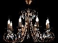 Candelabru Tango ,8 becuri dulie E14, 230V,D.77cm, H.54 cm,Maro