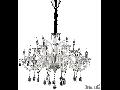 candelabru Colossal, 15 becuri, dulie E14, D:950 mm, H:900/1800 mm, Fildes