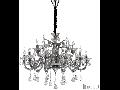 candelabru Colossal, 15 becuri, dulie E14, D:950 mm, H:900/1800 mm, Gri