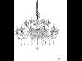 candelabru Colossal, 15 becuri, dulie E14, D:950 mm, H:900/1800 mm, Transparent