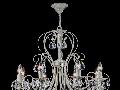 Candelabru Princess,8 becuri dulie E14, 230V,D.71cm, H.54 cm,Crem
