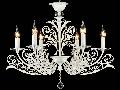 Candelabru Salute,6 becuri dulie E14, 230V,D.74cm, H.59 cm,Alb