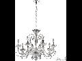 candelabru Alexander, 8 becuri, dulie E14, D:780 mm, H:800/1250 mm, Transparent