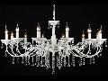 Candelabru Bellona,12 becuri dulie E14, 230V,D.110cm, H.58 cm,Alb