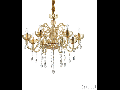 candelabru Canaletto, 8 becuri, dulie E14, D:750 mm, H:850/1700 mm, Chihlimbar