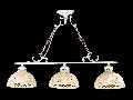 Candelabru Keramos,3 becuri dulie E27, 230V,D.72 cm, H.52 cm,Alb-Auriu