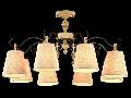 Candelabru Cipresso,8 becuri dulie E14, 230V,D.72 cm, H.42 cm,Crem