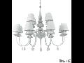 candelabru Blanche, 12 becuri, dulie E14, D:920 mm, H:930/1730 mm, Negru