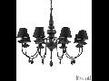 candelabru Blanche, 8 becuri, dulie E14, D:920 mm, H:900/1400 mm, Negru