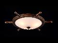 Plafoniera  Elegant Frigate,3 x E14, 230V, D.52cm,H.17 cm,Bronz