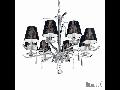 candelabru Accademy, 8 becuri, dulie E14, D:780 mm, H:810/1710 mm, Crom