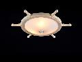 Plafoniera  Elegant Frigate,3 x E14, 230V, D.52cm,H.17 cm,Alb