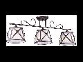 Candelabru  House Country,3 x E14, 230V, D.78cm,H.28 cm,Maro inchis