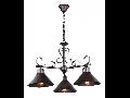 Lampa suspendata  House Iron,3 x E27, 230V, D.75cm,H.48 cm,Maro inchis