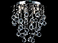 Plafoniera Modern Rockfall,6 becuri dulie G9, 230V,D.45cm, H.54 cm,Nichel