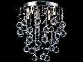 Plafoniera Modern Rockfall,4 becuri dulie G9, 230V,D.35cm, H.42 cm,Nichel