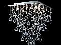 Plafoniera Modern Swirl,12 becuri dulie G9, 230V,D.50cm, H.65 cm,Nichel