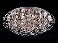 Plafoniera Modern Galaxy,12 becuri dulie G9, 230V,D.64cm, H.22 cm,Nichel