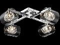 Plafoniera Modern Belinda,5 becuri dulie G9, 230V,D.58cm, H.18 cm,Nichel